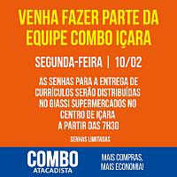 Processo seletivo do Combo Içara será no dia 10/02